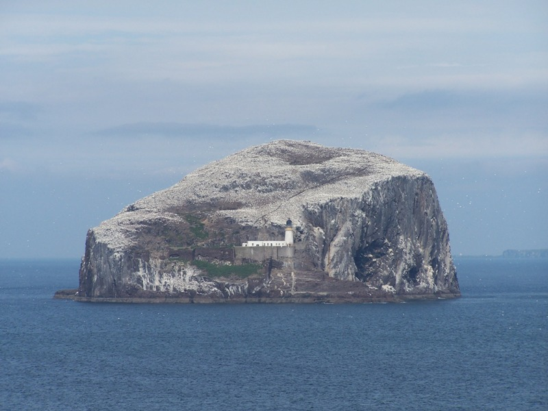 Bass Rock - old prison island and bird colony