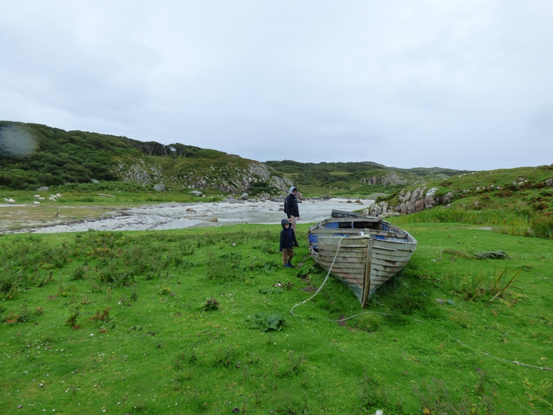 Old rowing boat beached on Ross of Mull