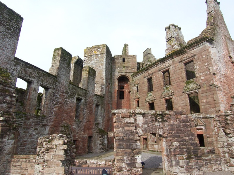 Caerlaverock Castles internal buildings