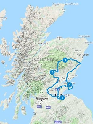May for 5 days in Scotland using Castle Explorer itinerary
