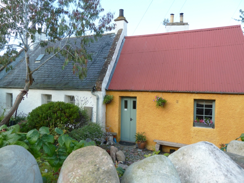 Colourful Cromarty cottage