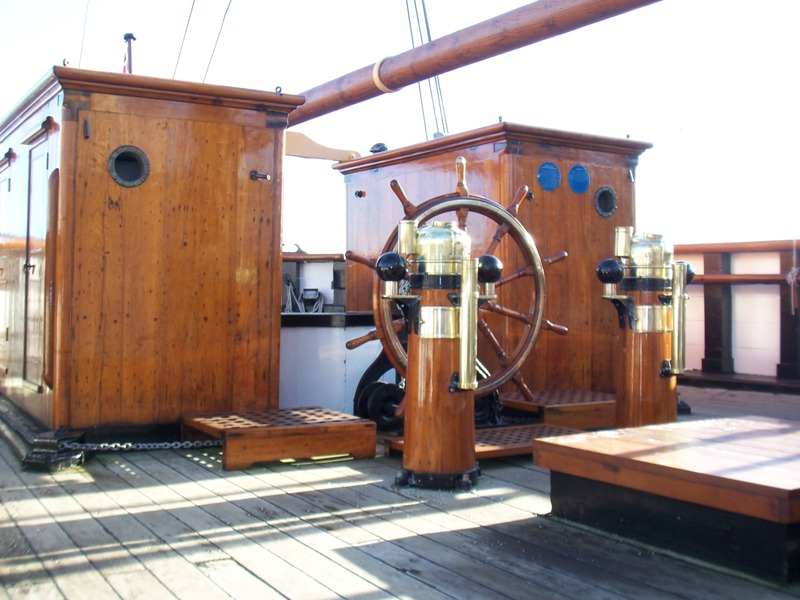 The wheelhouse of the RRS Discovery