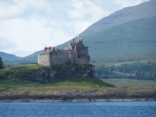 Duart Castle as seen from the Oban Ferry