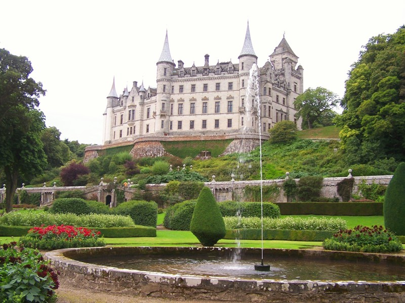 Dunrobin Castle viewed from Gardens