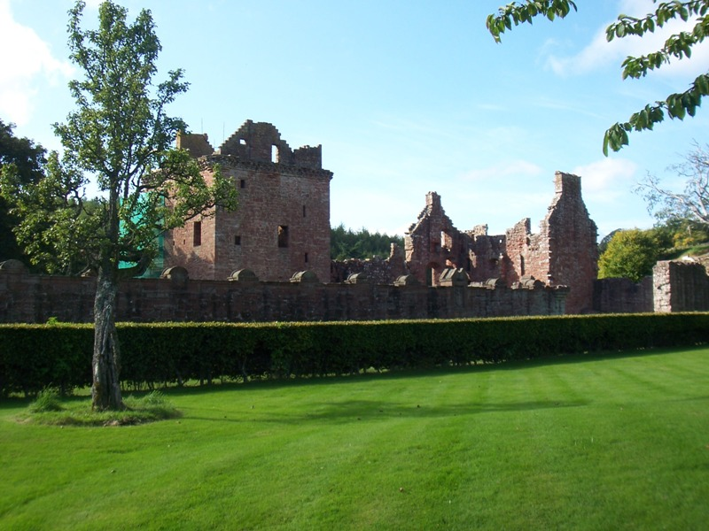Approach to Edzell Castle