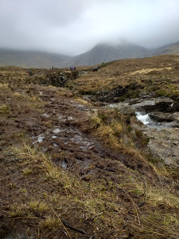 Environmental damage to Fairy Pools on Skye