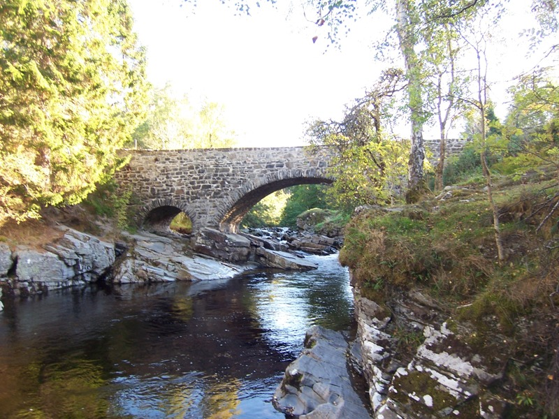 Feshie Bridge and pool for wild swimming