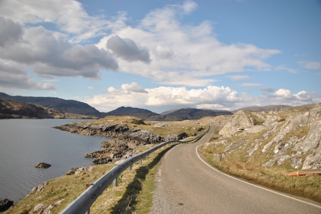 Golden Road on east coast of Harris