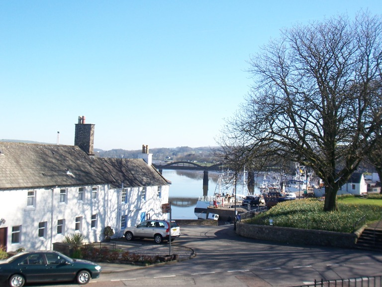 Kirkcudbright Harbour in early spring
