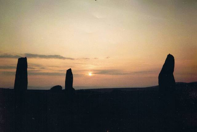 Machrie Standing Stones at Dusk