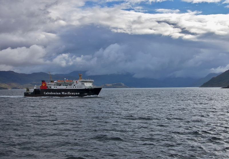 Mallaig Ferry with Knoydart in background
