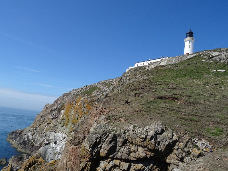 View of Mull of Galloway lighthouse from below