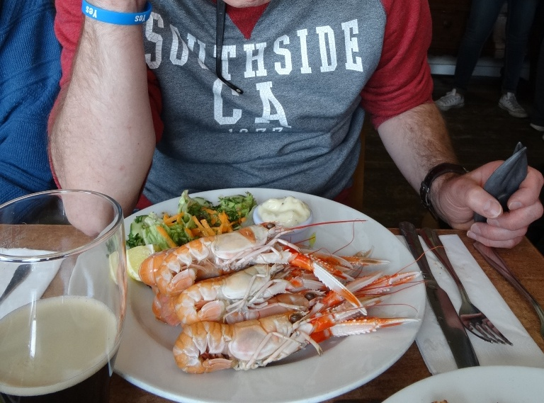 Plate of Langoustine at Old Forge