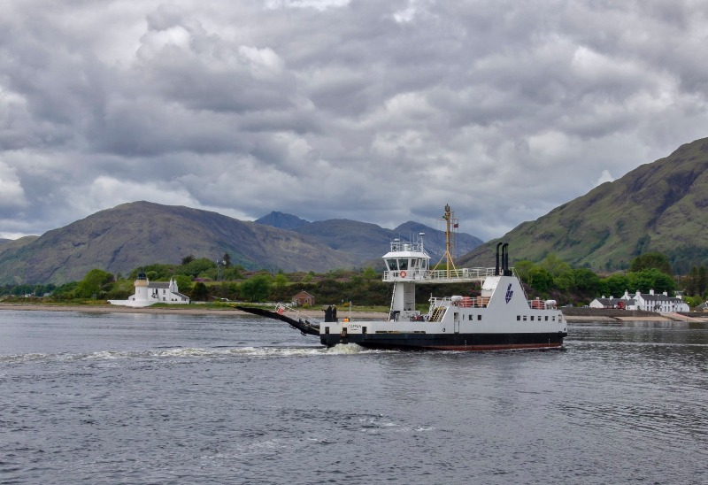 Ardgour Ferry crossing the narrows of Loch Linnhe