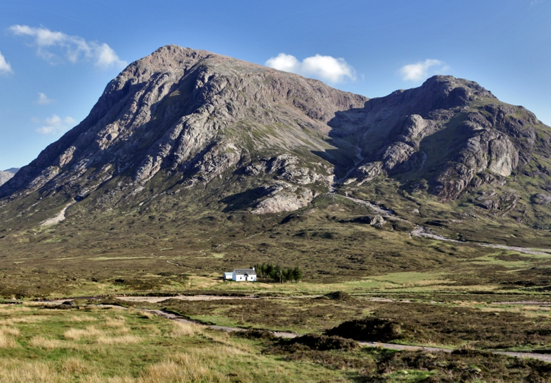 Glen Coe and the famous white cottage
