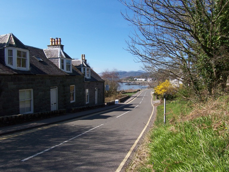 The road into Rockcliffe