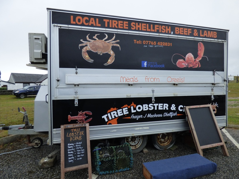 Scarinish seafood van on Tiree