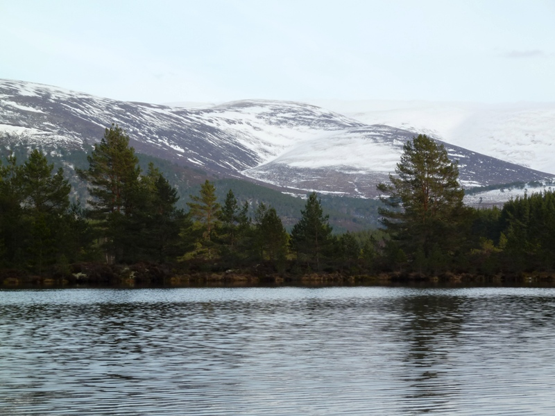 Snow on the Cairngorm Mountain at Uath Lochans