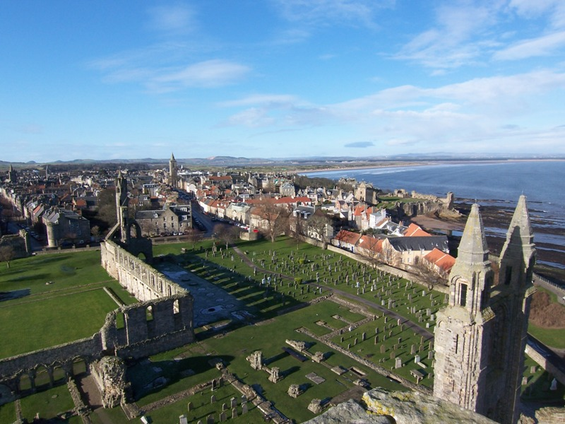 St Andrews viewed from top of St Rules Tower
