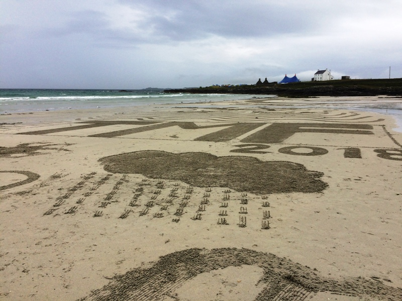 Tiree Music Festival - Beach Art