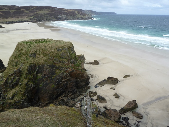 Traigh Mhor Beach viewed from the cliffs