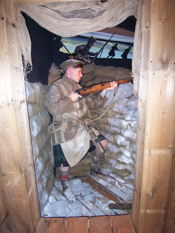 Trench Scene recreated at Black Watch Museum Perth