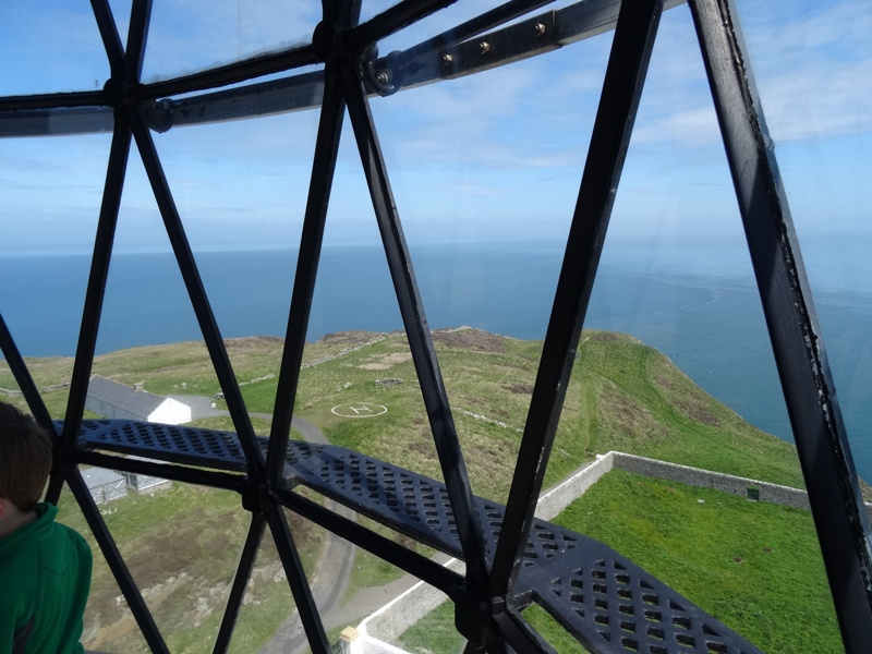 View from top of Mull of Galloway lighthouse