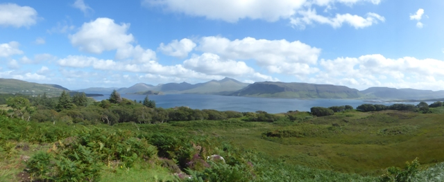View from Ulva towards Mull and Ben More
