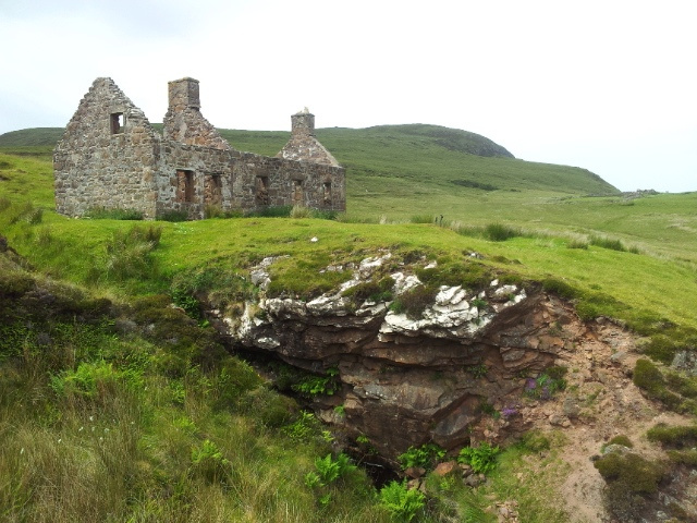Haunted cottage at Sandwood Bay