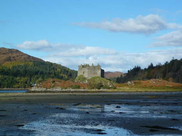 Castle Tioram at low tide
